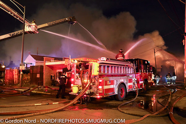3-11 alarm fire scene in Chicago