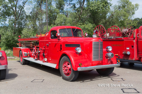 antique fire engine