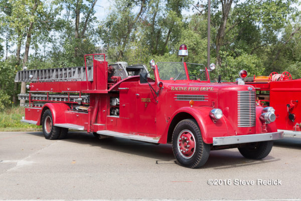 antique fire truck from Racine WI