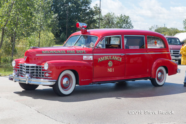 antique Milwaukee FD ambulance