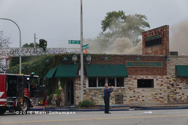 smoke from restaurant fire