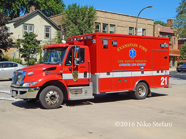 Evanston FD Ambulance 21