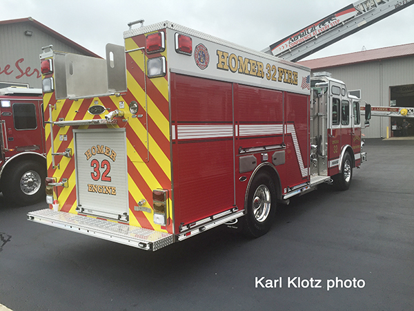 new fire engine for the Hoemr Twp FPD