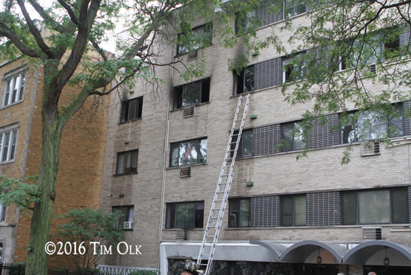 aftermath of apartment fire in Chicago