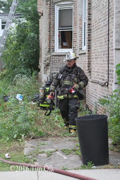 battalion chief at fire scene