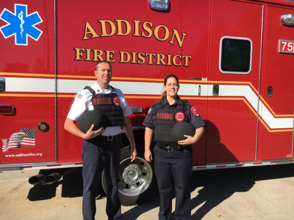 Addison Fire District issues tactical vests