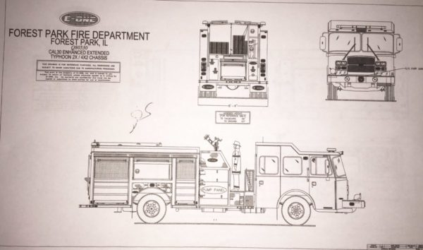 Drawing of E-ONE Typhoon engine