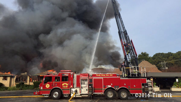 3-Alarm restaurant fire in Willowbrook