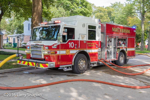 Northbrook FD Engine 10 Pierce Impel PUC with lines off