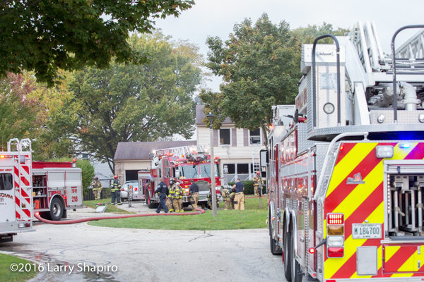fire scene in Buffalo Grove