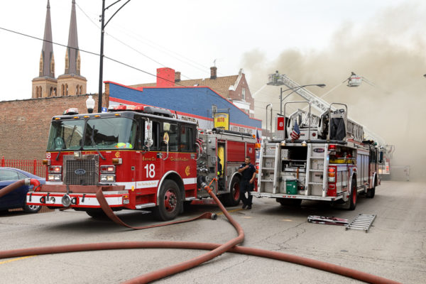 Chicago FD Engine 18 at work
