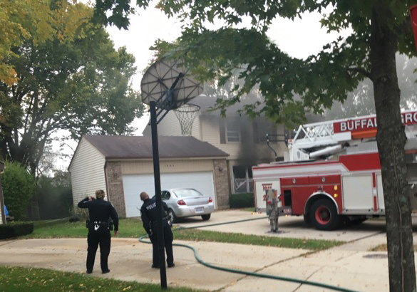 house fire in Buffalo Grove