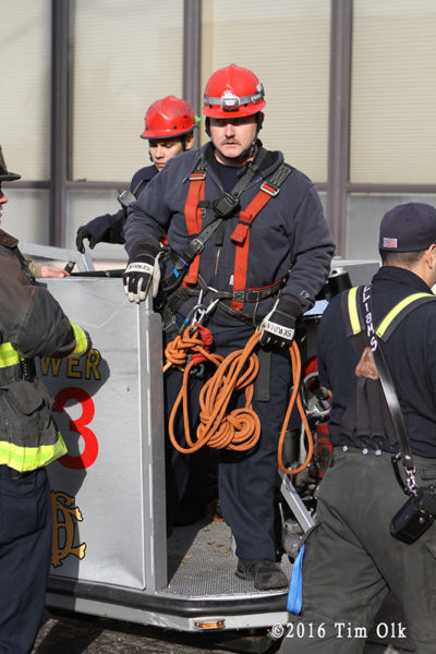 TRT firefighter after high angle rescue