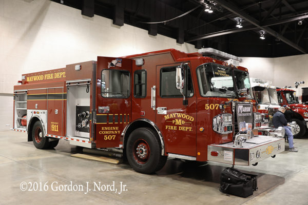 new fire engine for the Maywood Fire Department