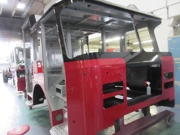 fire truck being built for Buffalo Grove