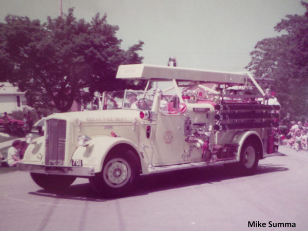 vintage fire engine from the Crete Fire Department