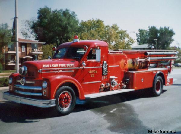 vintage Oak Lawn fire truck
