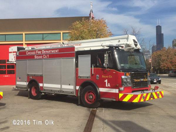 Chicago FD Squad 1A built by Rosenbauer