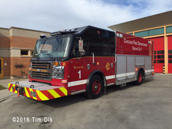 Chicago FD Squad 1 built by Rosenbauer