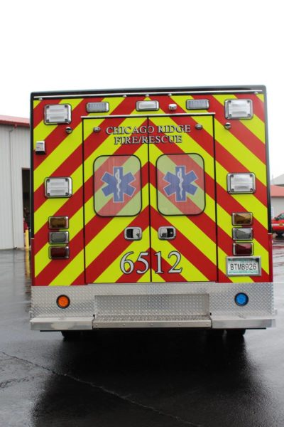 chevron striping on ambulance