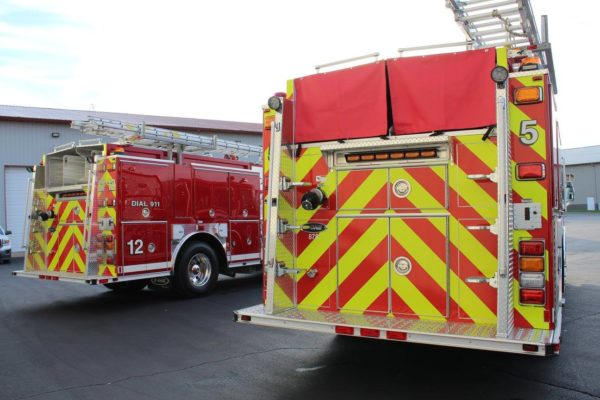 chevron striping on fire engines