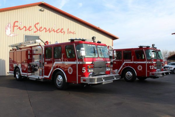 Aurora FD fire engines