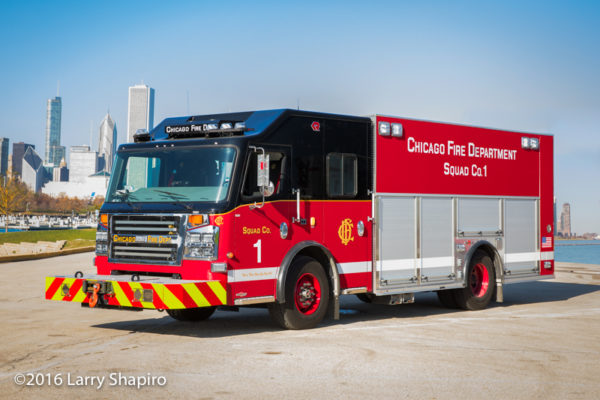 Chicago FD Squad 1 Rosenbauer Commander