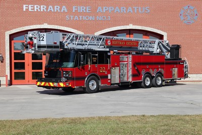 Ferrara tower ladder for the Hoffman Estates Fire Department
