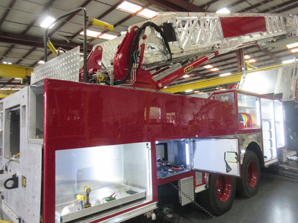 Fire truck being built by E-ONE for the Gurnee Fire Department