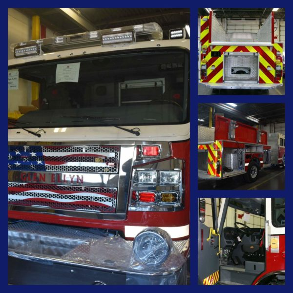 new fire engines for the Glen Ellyn Fire Department
