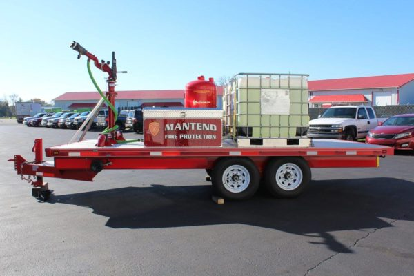 custom-built foam trailer for the Manteno Community FPD