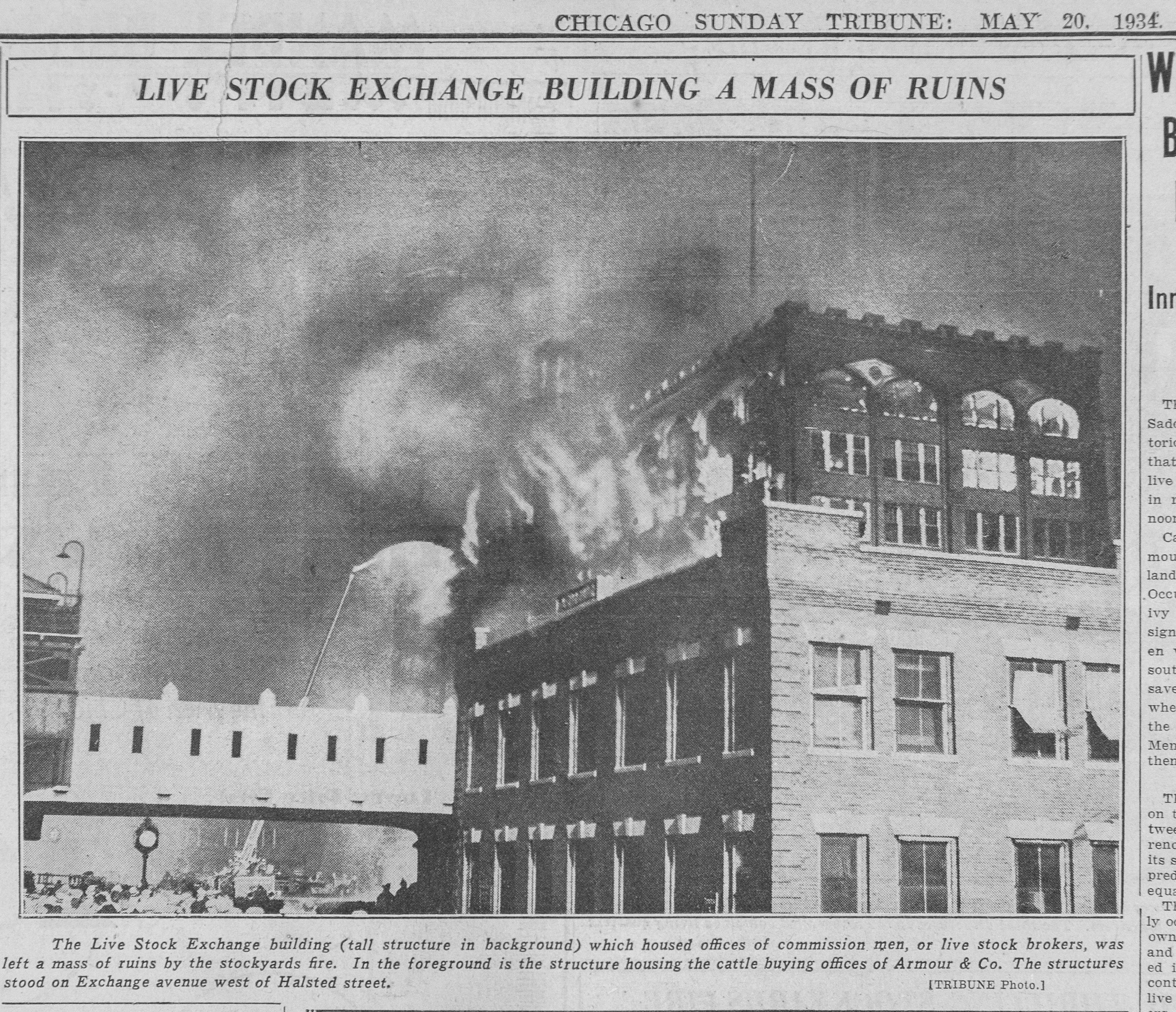 Chicago Stockyards fire
