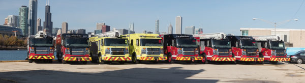 All Chicago FD squad company apparatus