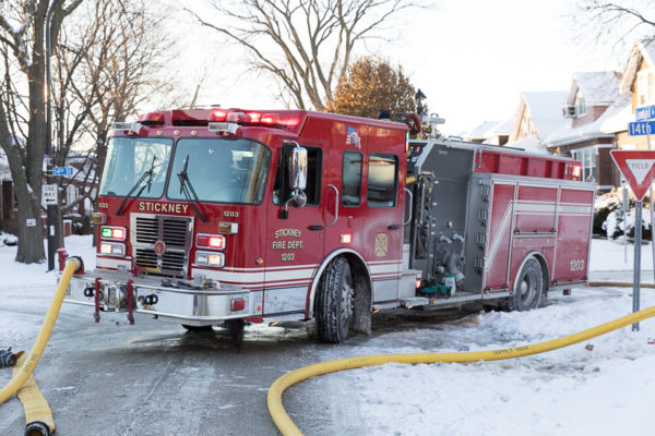 Stickney fire engine pumping