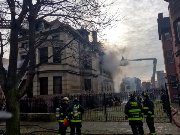 2-11 Alarm fire in Chicago at 2943 W Washington 12-30-16. CFD Media photo
