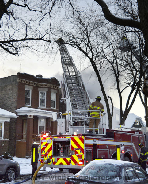 Berwyn firefighters at fire scene