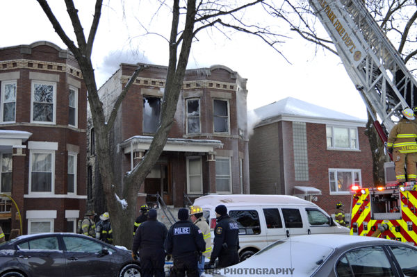 aftermath of apartment fire in Berwyn IL