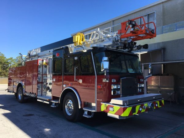 new fire truck being built for the Buffalo Grove FD