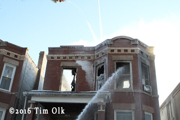 aftermath of apartment fire in Berwyn