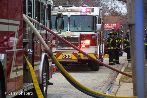 E-ONE fire trucks at fire scene