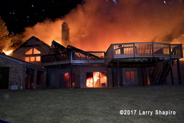 mansion destroyed by flames