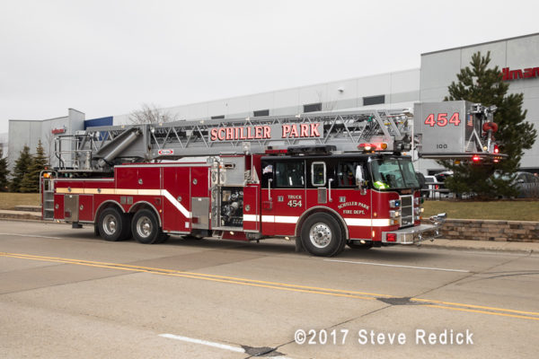 Schiller Park FD Tower Ladder 5
