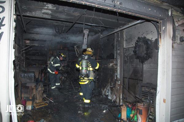 house fire scene