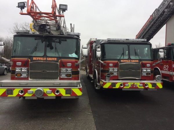 new fire trucks for the Buffalo Grove FD