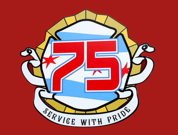 fictitious Chicago FD Truck 75 decal