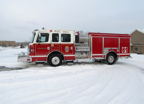 new fire engine for the Glen Ellyn VFD
