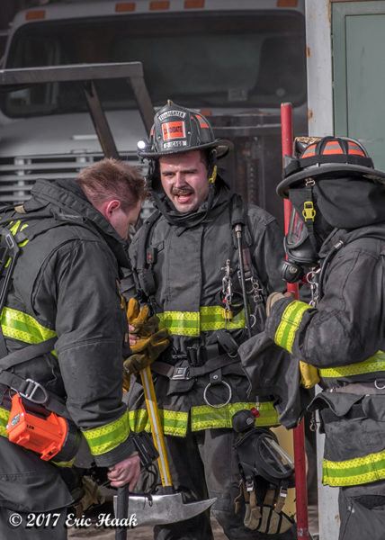 probationary Chicago Firefighter at work