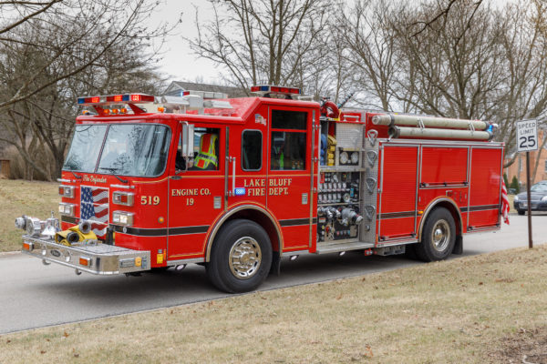 Lake Bluff FD fire engine