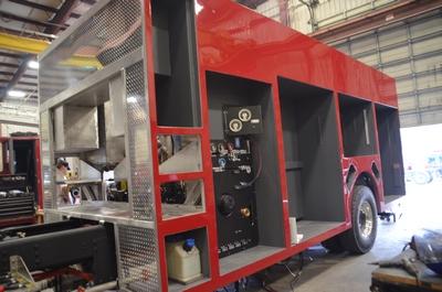 fire truck being built