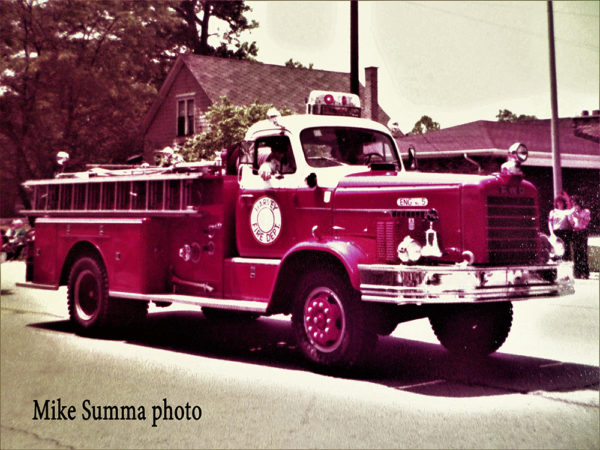 Harvey Fire Dept. Engine 5 a 1960 FWD fire engine
